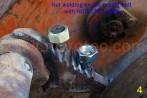 Soldadura de una tuerca al tornillo reconstruido